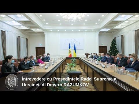 Президент Республики Молдова Майя Санду встретилась с Председателем Верховной Рады Украины Дмитрием Разумковым
