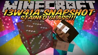 Minecraft Snapshot 13w41a (Minecraft 1.7) - STAINED GLASS, STAINED GLASS PANES,&SERVER ICONS!