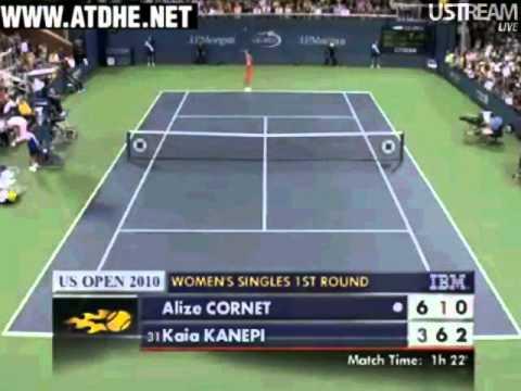 Kaia Kanepi vs Alize Cornet, US Open 2010