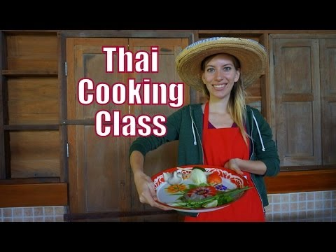 Learning How To Cook Thai Food at an organic Thai cooking school in Chiang Mai, Thailand