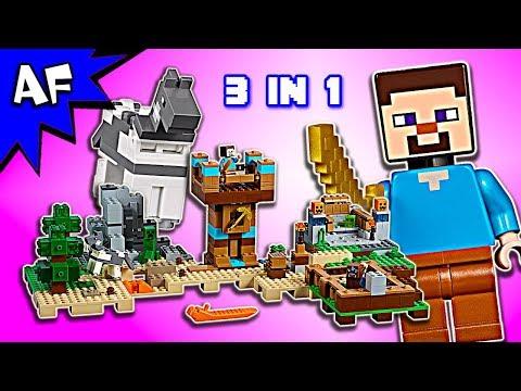 Lego Minecraft CRAFTING BOX 2.0 set 21135 Speed Build ALL 3 MODELS