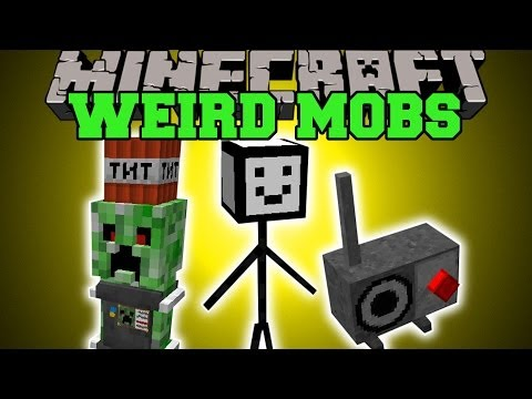 Minecraft: WEIRD MOBS (WHAT ARE THESE THINGS?!) Mod Showcase