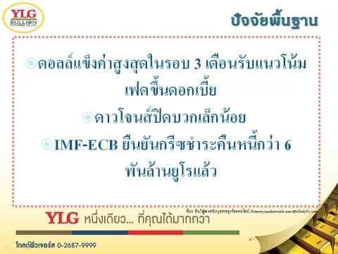 YLG บทวิเคราะห์ราคาทองคำประจำวัน 21-07-15