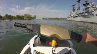 7. ECO MODE ! 82 Mile Ride Lake Erie/Niagara River: 2012 SeaDoo GTX S 155 & 2016 GTI 130