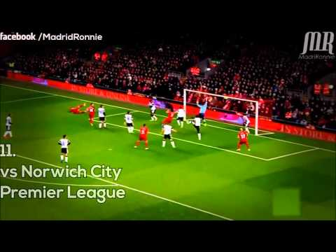 Luis Suarez - Amazing 4 Goal Vs. Norwich City