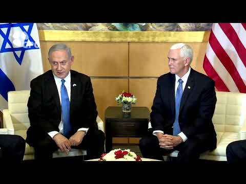 PM Netanyahu Meets with U.S. VP Mike Pence at the U.S. Embassy in Jerusalem
