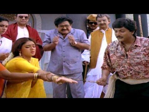 Alludugaru Movie || Back To Back Comedy Scenes || Mohan Babu, Shobana
