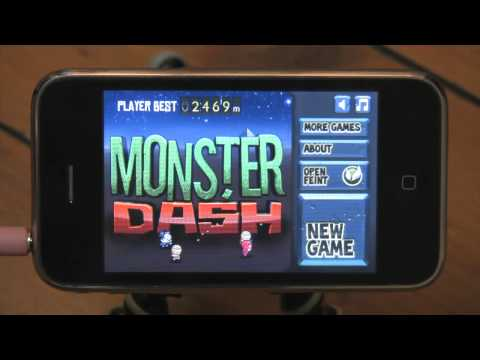 iphone game reviews - Monster Dash, the latest iPhone game from the makers of Fruit Ninja, Halfbrick Studios. It's Monster Murdering Marathon Mayhem reviewed by Blunty3000