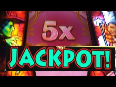 JACKPOT! Wizard of Oz- RUBY SLIPPERS 2 slot machine HANDPAY WIN