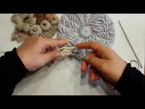 tutorial uncinetto - punto a spirale eseguito con uncinetto smirne