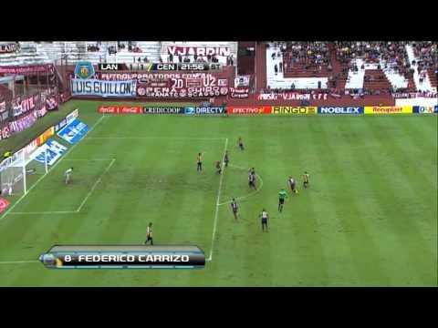 Gol Carrizo. Lanús 1 Rosario Central 1. Final 2014. Fecha 10. Fútbol Para Todos.