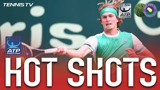 Watch Hot Shot as Alexander Zverev is stretched from corner to corner by Roberto Bautista Agut before turning the tables on Friday at the Gerry Weber Open. W...