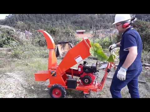 Triturador de galhos Lippel - BIO 130 D - Diesel
