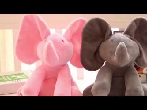 Cute Elephant Interactive Peek-a-Boo Plush Toy