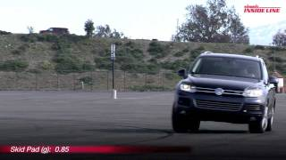 2011 Volkswagen Touareg Hybrid Track Test Video -- Edmunds.com