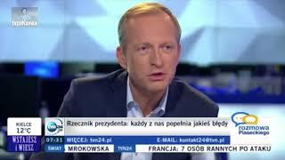 """Nowy rzecznik prasowy pana prezydenta opowiedział w Rozmowie Piaseckiego, w TVN24, jak wyglądała jego """"polityczna ścieżka""""."""
