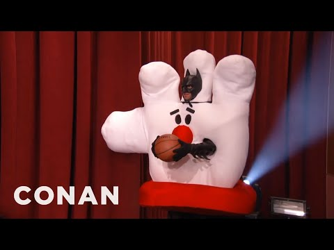 never - Who would've thought that Batman in a Hamburger Helper costume would be a lousy athlete? More CONAN @ http://teamcoco.com/video Team Coco is the official YouTube channel of late night host...