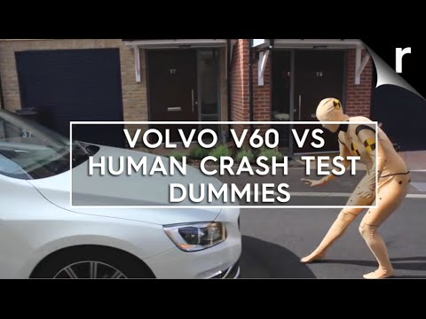 Volvo V60 vs human crash test dummies in Morphsuits