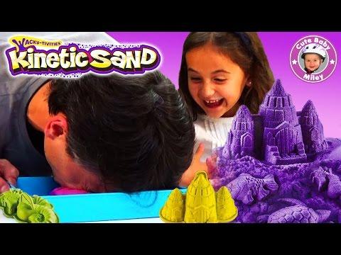 Kinetic Sand deutsch Produkttest - Sandkasten Kinderzimmer Super Sand - Kanal für Kinder