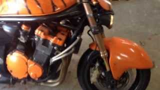 10. 2004 suzuki bandit 1200 first start spring time. Street fighter cafe racer