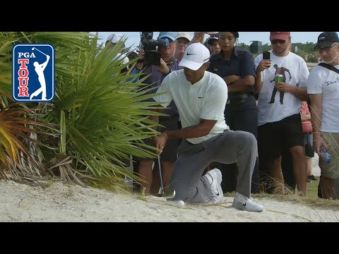 Tiger Woods' shot from the bus …