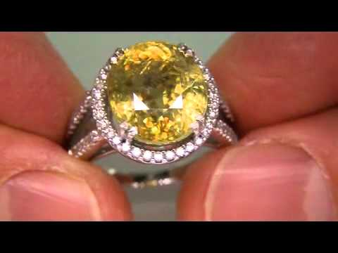 Highly Collectable Genuine Sphene Titanite Diamond Ring 14K Gold - eBay Auction