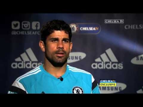 exclusive - Diego Costa spoke to Chelsea TV for the first time as a Chelsea player...