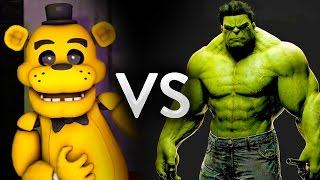 Five Nights at Freddy's animatronics Golden Freddy, Mangle, Toy Chica, Bonnie the Bunny and Foxy the Pirate vs Hulk left 4 dead 2 mod