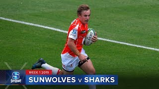 Sunwolves v Sharks Rd.1 2019 Super rugby video highlights | Super Rugby Video Highlights
