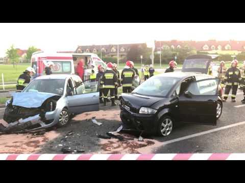 Wideo: Wypadek u zbiegu Kaczyńskiego z Górniczą w Lubinie
