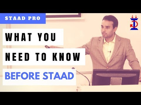 What you need to know before learning STAAD