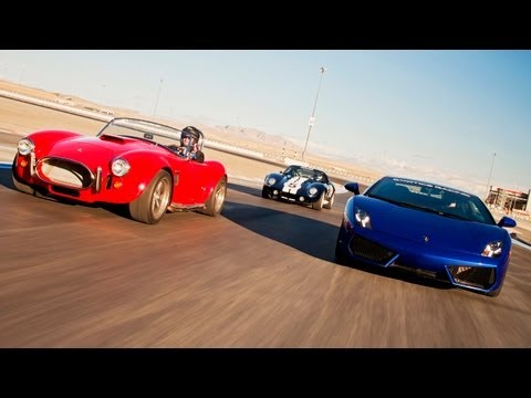 Factory Five Kit Cars vs a Lamborghini Gallardo! – HOT ROD Unlimited Episode 27