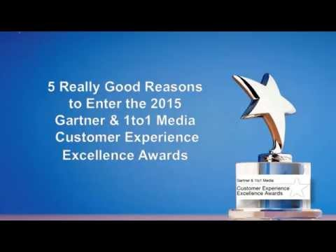 Gartner & 1to1 Media Customer Experience Excellence Awards 2015