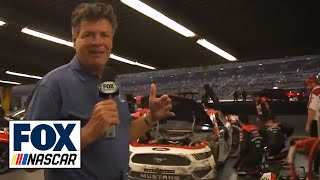 Michael Waltrip tours the garage after 'The Big One'   2019 DAYTONA 500 by FOX Sports