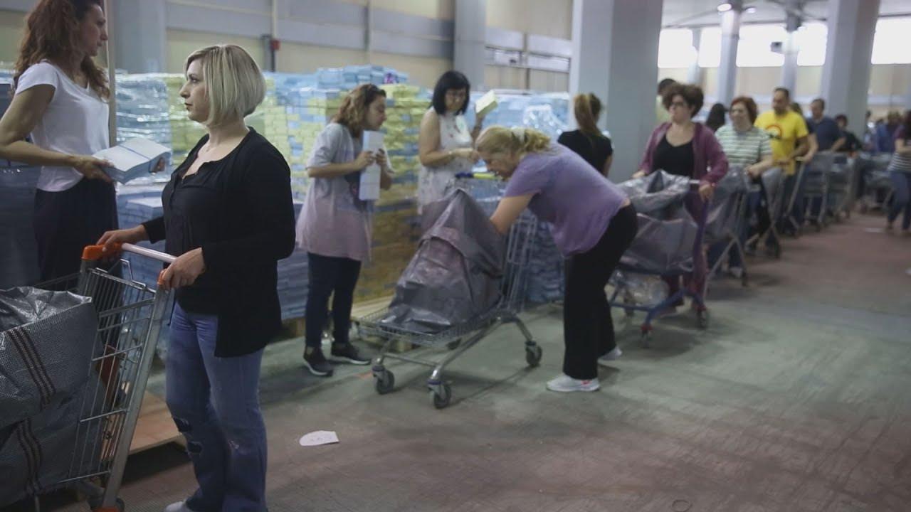 Ψηφοδέλτια- Προετοιμασία των εκλογικών σάκων