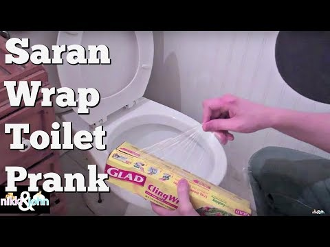 Saran Wrap Toilet Prank Surprises Girlfriend