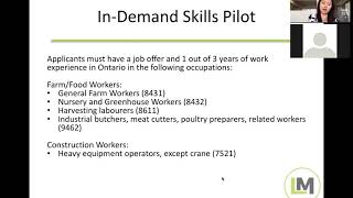 New OINP Permanent Residence Program for Farm Workers and Low skilled Construction Positions