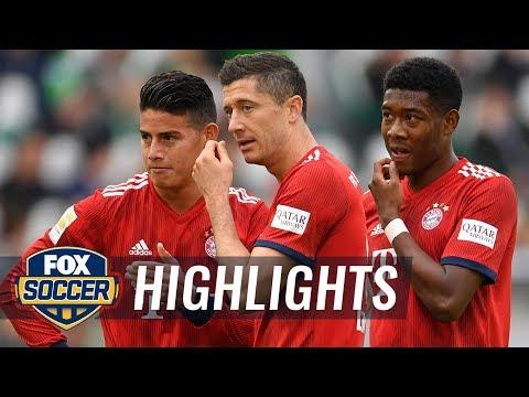 VfL Wolfsburg vs. Bayern Munich   2018-19 Bundesliga Highlights