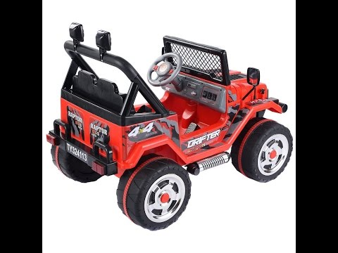 Ride On Car Costzon 12V MP3 Kids Raptor Jeep Truck RC Ride On Car With Double Motors And Batteries