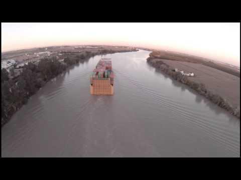 Vigilancia barco de carga - RPAS
