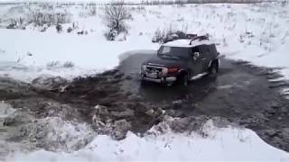 Jeep Wrangler Hummer Toyota FJ Cruiser Mercedes G UAZ 4x4 off road extreme test drive in deep mud bog water snow and ...