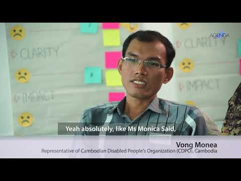 Image of the video: AGENDA Interview with Cambodian Disability Rights Advocates