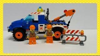 레고 견인차 만들기, Lego Tow Car Speed Build, Собираем Лего Машинку!