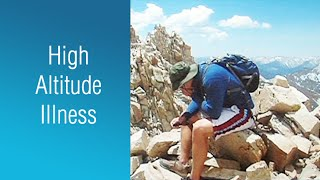 """(Visit: http://www.uctv.tv/) If you are hiking, skiing, climbing or just visiting at altitude higher than 8,000 feet you may experience altitude sickness. Emergency Medicine specialist Dr. Chris Colwell covers the symptoms and what you should do if you show any of the signs. Recorded on 04/26/2017. Series: """"UCSF Osher Center for Integrative Medicine presents Mini Medical School for the Public"""" [8/2017] [Show ID: 32415]"""