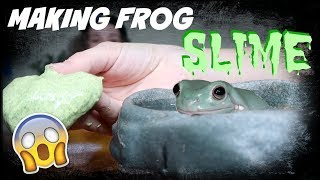 MAKING FROG SLIME!! (With My Frog) by Maddie Smith
