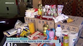 Voluntárias arrecadam doações de alimentos em Bauru e Jaú