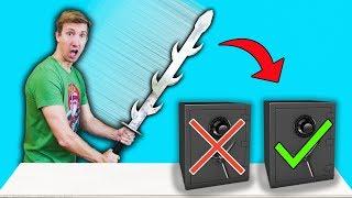 ABANDONED SAFE vs NINJA WEAPONS EBAY MYSTERY BOX Challenge Unboxing Haul!