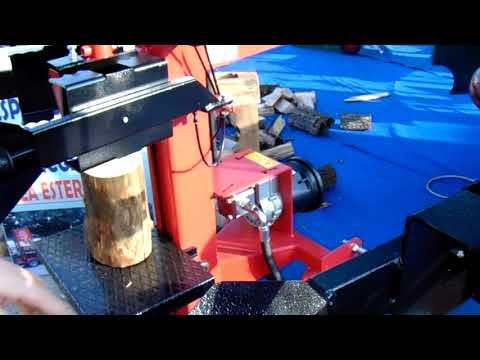 Dimostrazione Spaccalegna Mundial Vjmar da 10 ton. corsa 1000