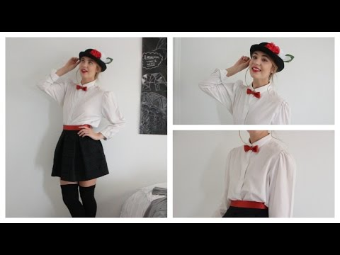 Halloween Tutorial: Mary Poppins (hair, makeup + DIY costume)