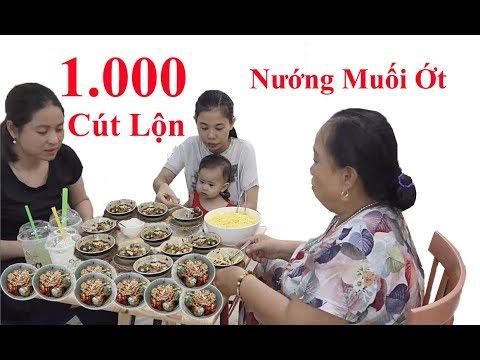 Ăn 1000 Trứng Cút Nướng Muối Ớt
